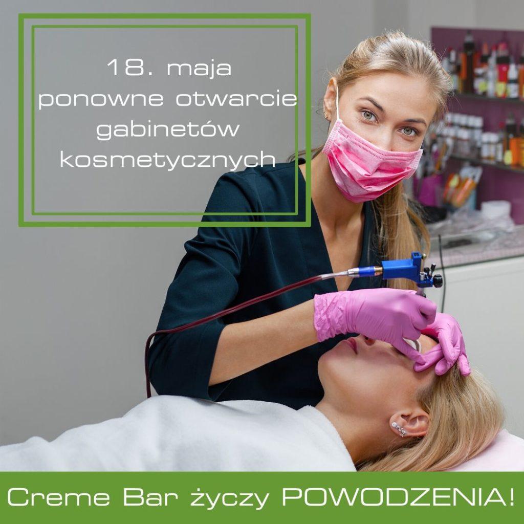 ponowne otwarcie gabinetów kosmetycznych